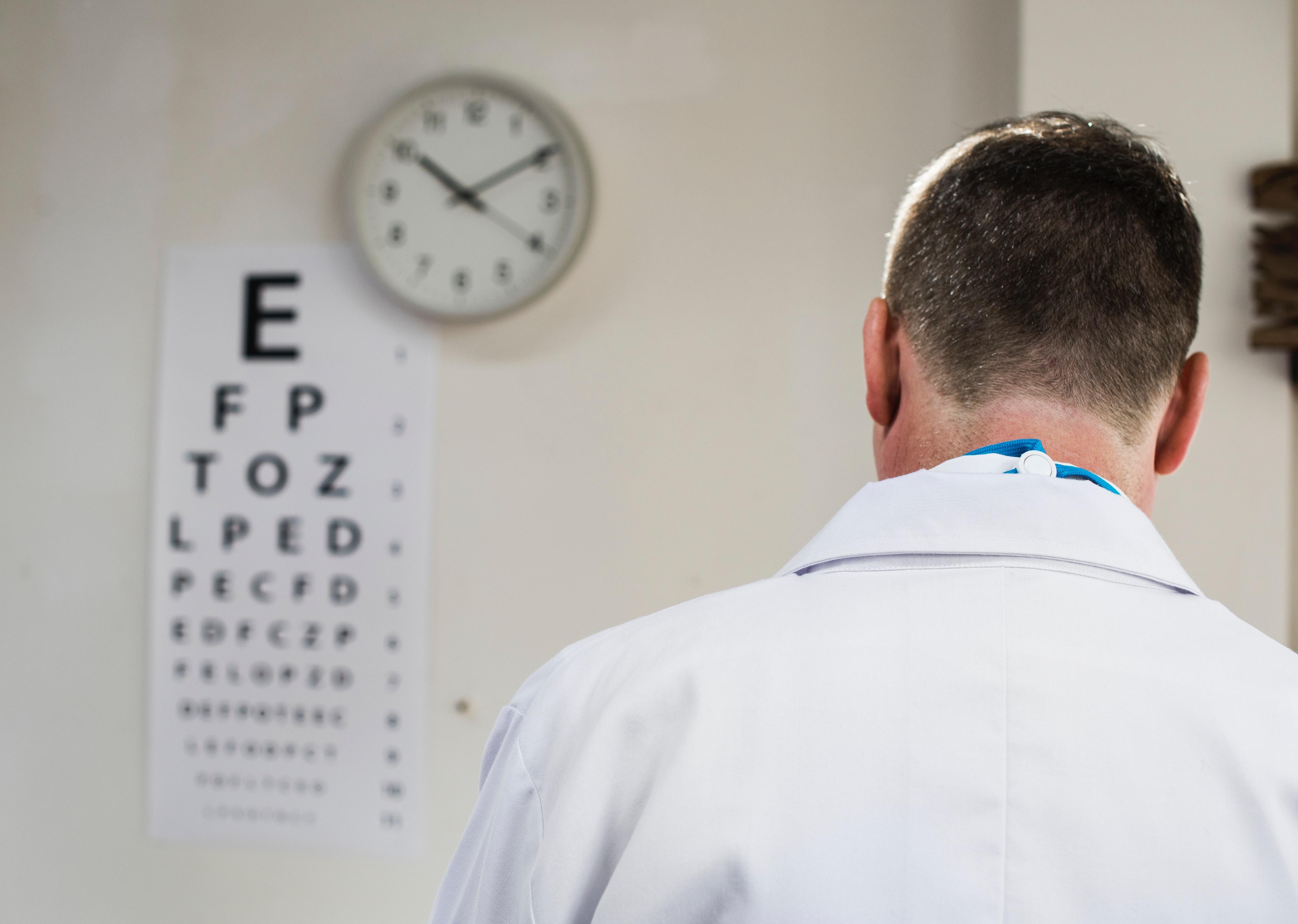 An eye doctor's office