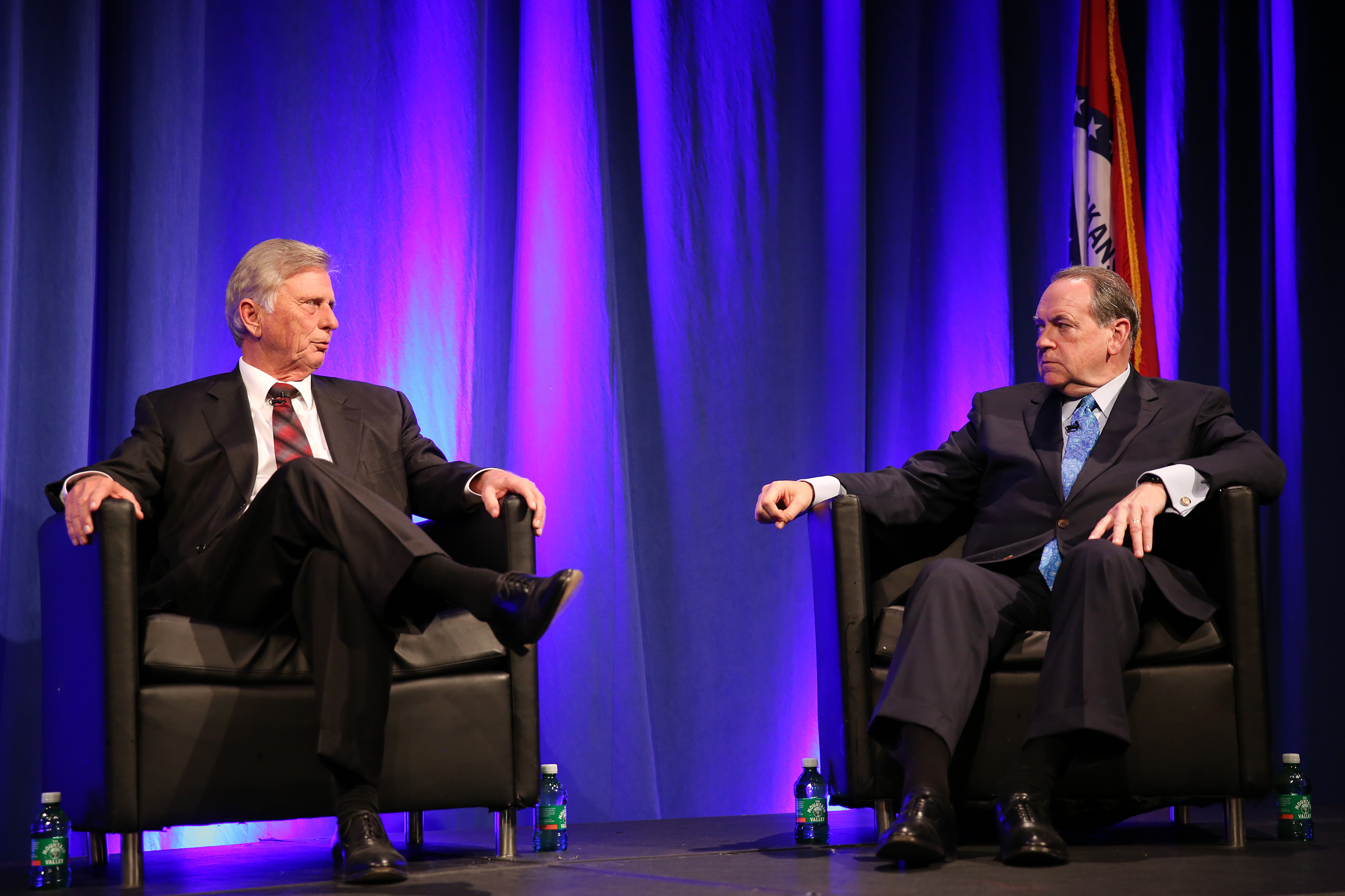 Former governors Mike Huckabee, Mike Beebe
