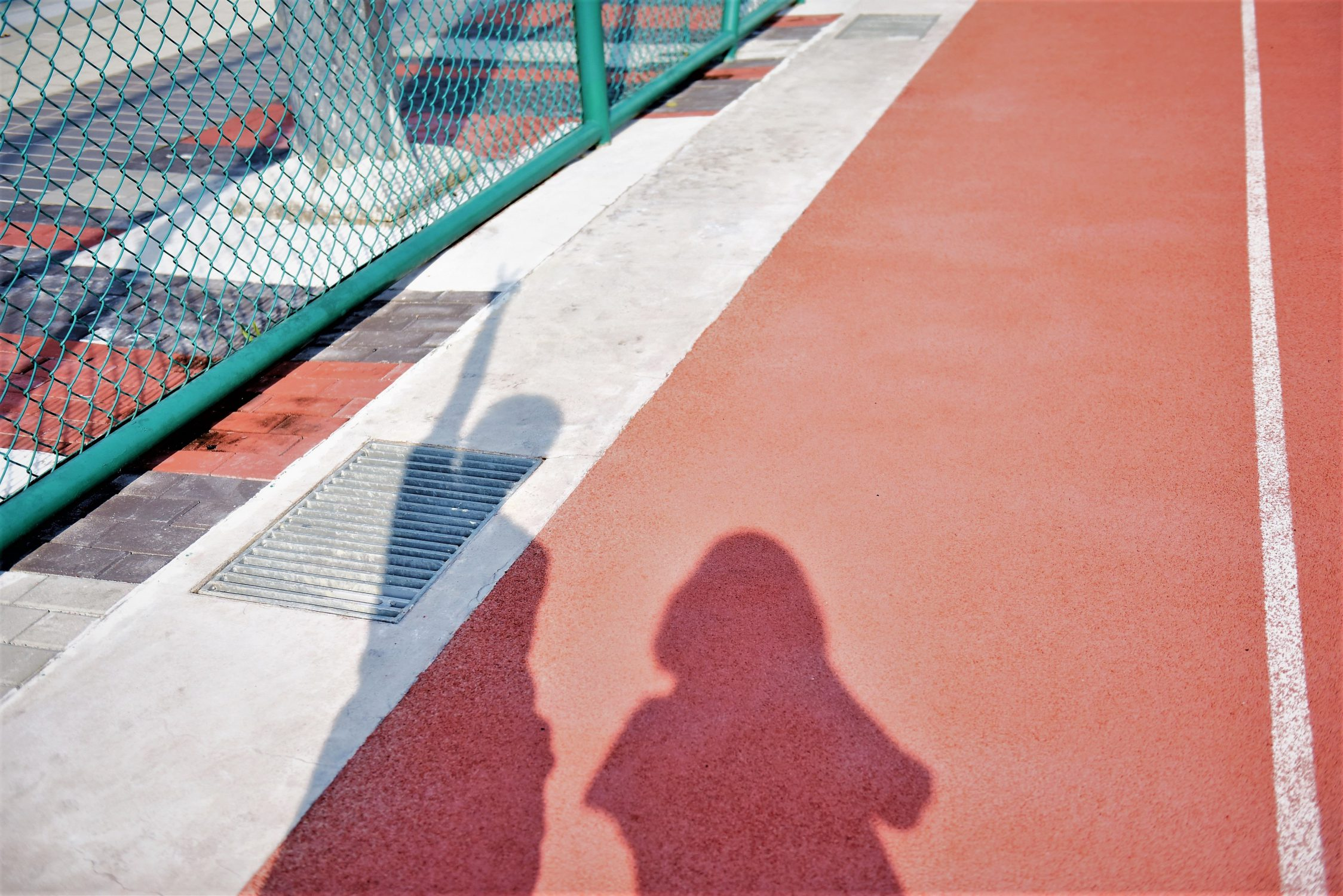 Two peoples' shadows